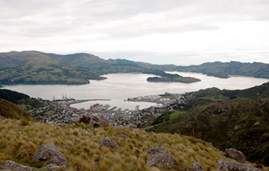 Lyttleton Harbour from the Crater Rim Walkway