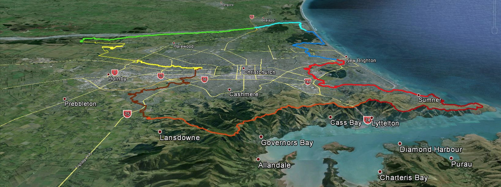 Christchurch 360 Trail flyover