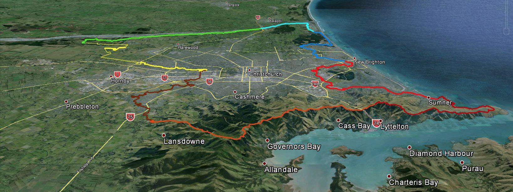Christchurch 360 Trail flyover